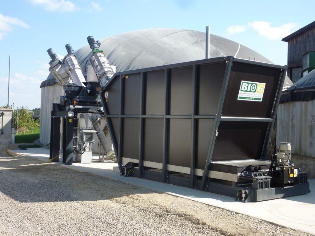 Impianto biogas BIOCRUSHER sistema completo Mossbauer