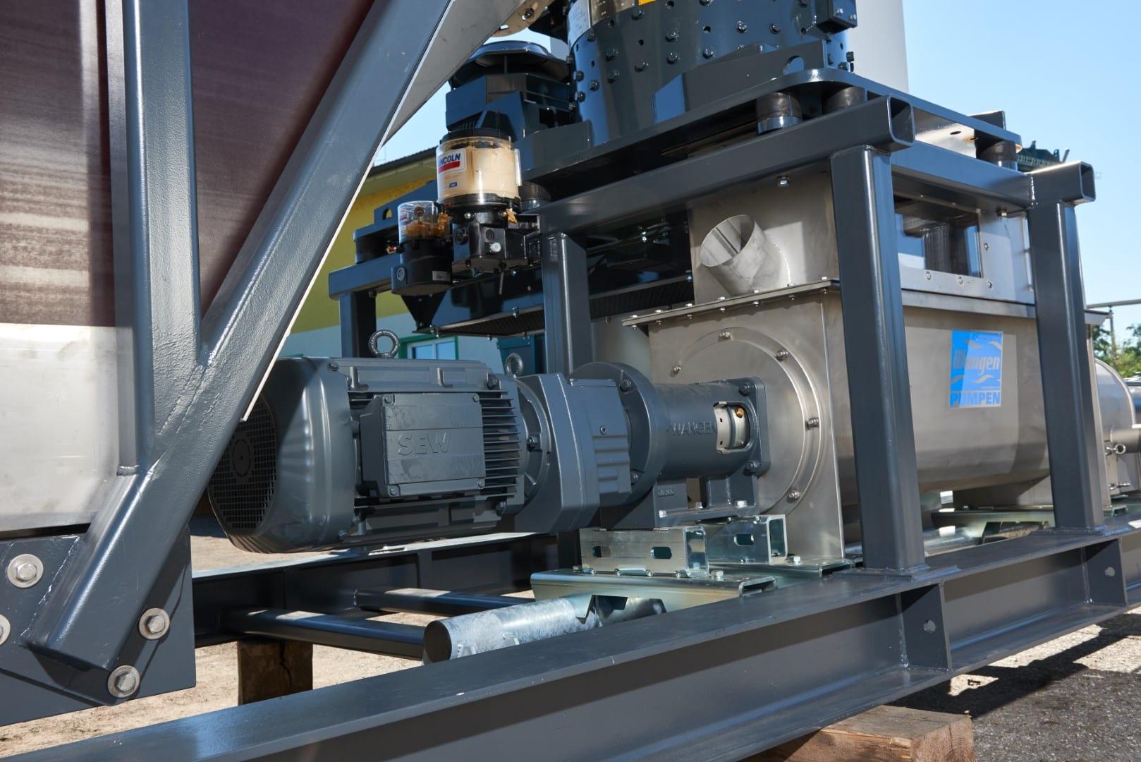 Насос Wangen для загрузки жидкой массы на биогазовой установке