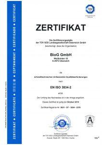 Zertifikat 1090 EN ISO 3834-2