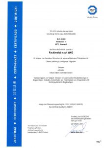 Zertifikat Fachbetrieb nach WHG